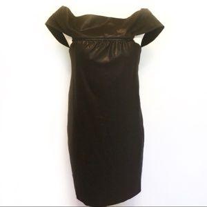 Chloé silk off the shoulder cocktail dress